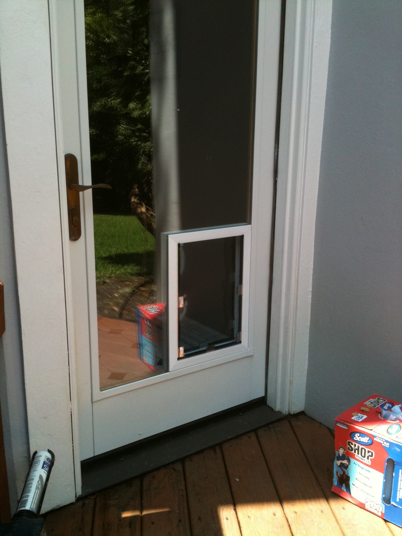 Pella Sliding Doors >> San Antonio Dog Doors in Glass Installation Gallery